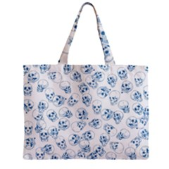 A Lot Of Skulls Blue Zipper Mini Tote Bag by jumpercat