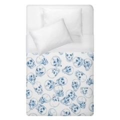 A Lot Of Skulls Blue Duvet Cover (single Size) by jumpercat
