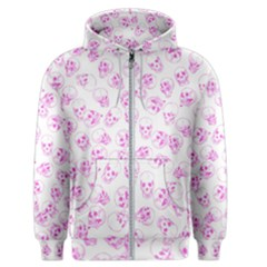 A Lot Of Skulls Pink Men s Zipper Hoodie by jumpercat