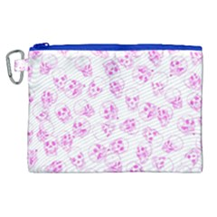 A Lot Of Skulls Pink Canvas Cosmetic Bag (xl) by jumpercat