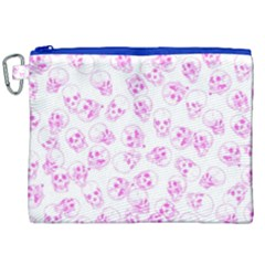 A Lot Of Skulls Pink Canvas Cosmetic Bag (xxl) by jumpercat