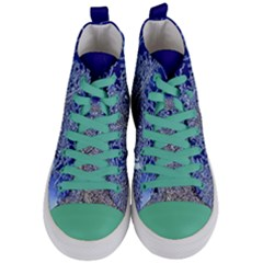 Crystalline Branches Women s Mid Top Canvas Sneakers