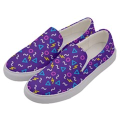 Retro Wave 1 Men s Canvas Slip Ons by jumpercat