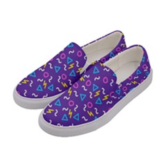 Retro Wave 1 Women s Canvas Slip Ons by jumpercat