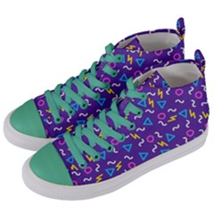 Retro Wave 1 Women s Mid Top Canvas Sneakers by jumpercat