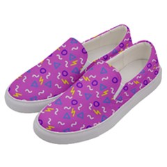 Retro Wave 2 Men s Canvas Slip Ons by jumpercat