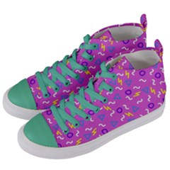 Retro Wave 2 Women s Mid Top Canvas Sneakers by jumpercat