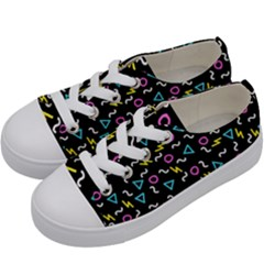 Retro Wave 3 Kids  Low Top Canvas Sneakers by jumpercat