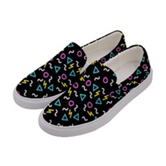 Retro Wave 3 Women s Canvas Slip Ons by jumpercat