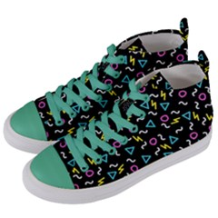 Retro Wave 3 Women s Mid Top Canvas Sneakers by jumpercat