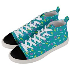 Retro Wave 4 Men s Mid Top Canvas Sneakers by jumpercat