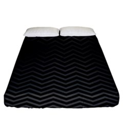 Dark Chevron Fitted Sheet (king Size) by jumpercat