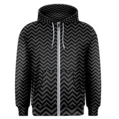Dark Chevron Men s Zipper Hoodie by jumpercat