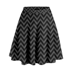 Dark Chevron High Waist Skirt by jumpercat