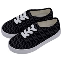 Dark Chevron Kids  Classic Low Top Sneakers by jumpercat