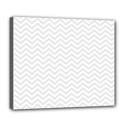 Light Chevron Deluxe Canvas 24  X 20   by jumpercat