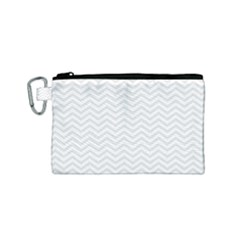 Light Chevron Canvas Cosmetic Bag (small) by jumpercat
