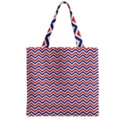 Navy Chevron Grocery Tote Bag by jumpercat