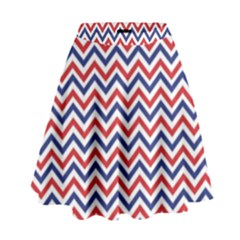 Navy Chevron High Waist Skirt by jumpercat