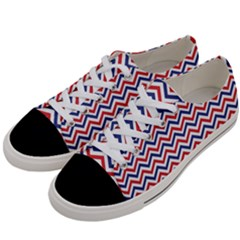 Navy Chevron Women s Low Top Canvas Sneakers by jumpercat