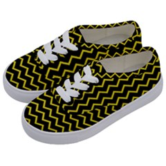Yellow Chevron Kids  Classic Low Top Sneakers by jumpercat
