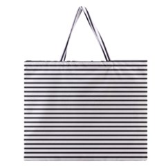 Basic Horizontal Stripes Zipper Large Tote Bag by jumpercat
