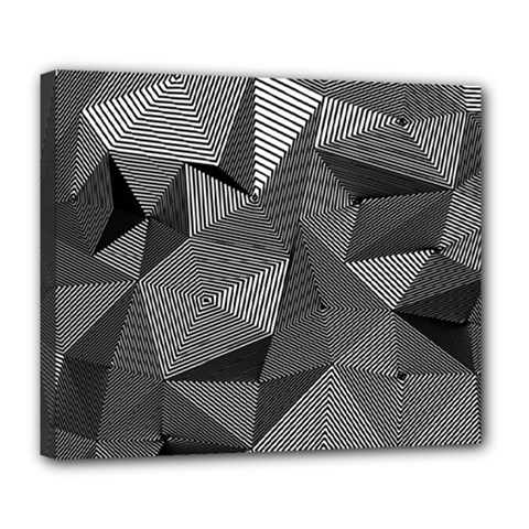 Geometric Doodle Deluxe Canvas 24  X 20   by jumpercat