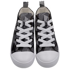 Geometric Doodle Kid s Mid Top Canvas Sneakers