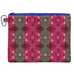 Christmas Colors Wrapping Paper Design Canvas Cosmetic Bag (xxl) by Fractalsandkaleidoscopes