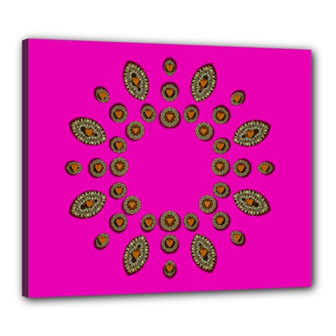 Sweet Hearts In  Decorative Metal Tinsel Canvas 24  X 20  by pepitasart
