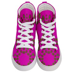 Sweet Hearts In  Decorative Metal Tinsel Women s Hi Top Skate Sneakers