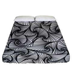 Fractal Sketch Light Fitted Sheet (california King Size)