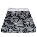 Fractal Sketch Light Fitted Sheet (California King Size) View1