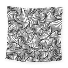 Fractal Sketch Light Square Tapestry (large) by jumpercat