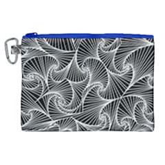 Fractal Sketch Dark Canvas Cosmetic Bag (xl)