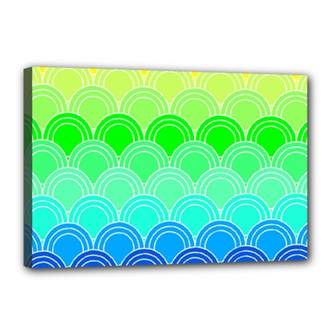 Art Deco Rain Bow Canvas 18  X 12  by 8fugoso