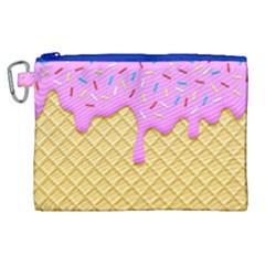 Strawberry Ice Cream Canvas Cosmetic Bag (xl)