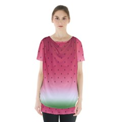 Watermelon Skirt Hem Sports Top by jumpercat