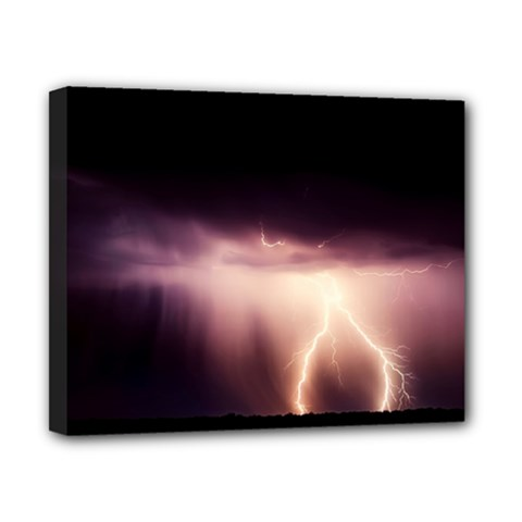 Storm Weather Lightning Bolt Canvas 10  X 8  by BangZart