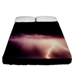 Storm Weather Lightning Bolt Fitted Sheet (california King Size)