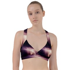 Storm Weather Lightning Bolt Sweetheart Sports Bra