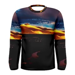 India Sunset Sky Clouds Mountains Men s Long Sleeve Tee