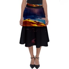 India Sunset Sky Clouds Mountains Perfect Length Midi Skirt