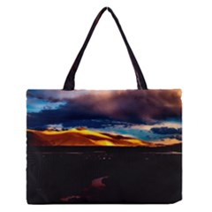 India Sunset Sky Clouds Mountains Zipper Medium Tote Bag