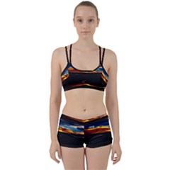 India Sunset Sky Clouds Mountains Women s Sports Set