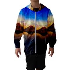 Crater Lake Oregon Mountains Hooded Wind Breaker (kids)