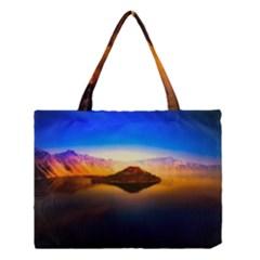 Crater Lake Oregon Mountains Medium Tote Bag