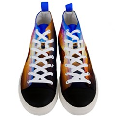 Crater Lake Oregon Mountains Men s Mid Top Canvas Sneakers