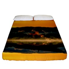 Bled Slovenia Sunrise Fog Mist Fitted Sheet (king Size) by BangZart