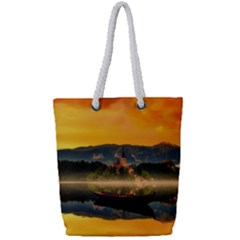 Bled Slovenia Sunrise Fog Mist Full Print Rope Handle Tote (small) by BangZart